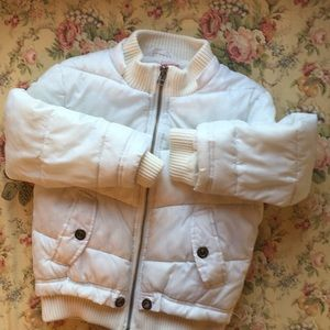 Little Girls Copper Key Hooded Puffer Jacket